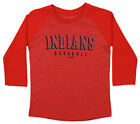 Majestic MLB Youth Cleveland Indians Baseball Academy 3/4 Sleeve Raglan Tee on Ebay
