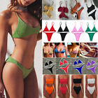 Womens Triangle Padded Bra Top Thong Bottom Bikini Set Bandage Swimsuit Swimwear $8.36 USD on eBay