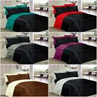 6PC SATIN REVERSIBLE COMPLETE BEDDING SET DUVET COVER FITTED SHEET & PILLOWCASES