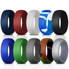 Silicone Wedding Engagement Ring 10 Pack Men Women Rubber Band Flexible Gift