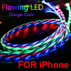 LED Light up flowing Visible USB Charger Charging Cable Cord For iPhone 8 7 6 5 X