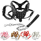 Spiked Studded Dog Collar Harness and Leash Set for Pitbulls Boxer Rottweiler