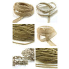 5mm AND 7mm RUSTIC PLAITED HESSIAN WOVEN JUTE BURLAP ROPE RUSTIC TRIMMING