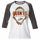 Mens Quints Fishing Long Sleeve Raglan Jaws T Shirt Retro Movie Amity Island