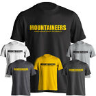 Appalachian App State Mountaineers Distressed Text Logo Short Sleeve T-Shirt