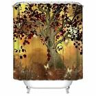 Внешний вид - Maple Tree Shower Curtain  Fallen Leaves Bath Curtain Anti-Bacteria Waterproof