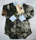 Mossy Oak Camo Blue Baby Diaper Shirt, Boy Camouflage Long Sleeve Snap