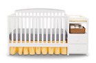 5 in 1 Convertible Baby Crib Changer Nursery Table Bed Changing Station Toddler