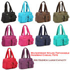 Women Famous Brands Versatile Nylon Top-handle Handbag Casual Tote School Bag