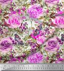 Soimoi Fabric Butterfy,Leaves & Rose Flower Decor Fabric Printed BTY - FW-260B