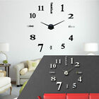 Creative 3D Wall Clock Watch Large Modern DIY Sticker Decal Roman Numeral Home
