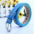 Toddler Colorful Flower Belt Buckle Faux Leather Girls Boy Child Waistband 96cm