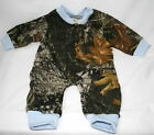 Mossy Oak Camo Blue Baby Sleeper, Boy Camouflage Creeper Snap