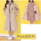 Uniqlo JW ANDERSON 2019 Women Reversible Trench Coat 100% Cotton Beige NWT