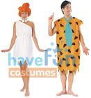 Couples Costumes The Flintstones Fred and Wilma Adult Stone Age Halloween