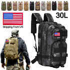 30L Outdoor Military Molle Tactical Backpack Rucksack Camping Hiking Bag Travel