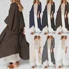 Womens Summer Kimono Baggy Kaftan Cardigan Oversized Poncho Cover Up Coat Tops