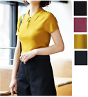 Uniqlo Women U Lemaire 2019 Knitted Short-Sleeve Polo Shirt 4 Colors NWT