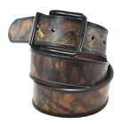 Mossy Oak Genuine Leather Reversible Belt w/Matte Finished-Non-Reflective Buckle