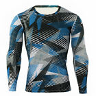 Mens Camo Long Sleeve Compression Base Layer Armour Muscle T-Shirt Skin Fit Tops