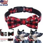 Fabric Grid Dog Bow Tie Collar Necklace for French Bulldog Chihuahua Pug Yorkie