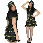 Ladies fancy dress sexy party airline pilot girl stewardess Size 10 12 14 L