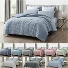 Chezmoi Collection Levi 3-Piece Striped Heather Jersey Knit Cotton Comforter Set image