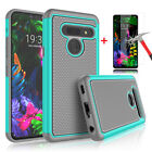 For LG G8 ThinQ Shockproof Phone Case Hybrid Rubber Cover+Glass Screen Protector
