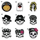 Funny Joke Helloween Ghost Skull Face Unique Clothing Jeans Shirt Iron on Patch
