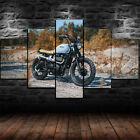 Framed Triumph Bonneville Motorcycle 5 Piece Canvas Print Wall Art Decor $39.99 USD on eBay
