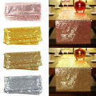 12'x72''/108'/118' Sparkle Sequin Table Runner Cloth Wedding Banquet Party Decor