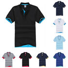 Mens Short Sleeve Summer Golf Sport Polo Shirts T-Shirt Casual Tops Basic Tee image