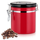 1200mL Stainless Steel Airtight Sealed Container Coffee Storage Jar (4 Colours)