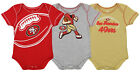 Outerstuff NFL Infant San Francisco 49ers 3 Pack Creeper Set