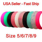 Kyпить 10-Pack Silicone Ring Womens Wedding Band Engagement Jewelry Size 5 6 7 8 9 на еВаy.соm