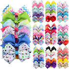 6PCS Set 5 JOJO Girls Hair Bows Hairpin Baby Kid Princess Ribbon Clip Grosgrain