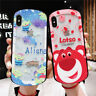 For iphone XS Max 7 8+ Disney Alien lotso Bear Hollow tempered glass phone case