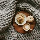 Chunky Knit Wool Throw Blanket image