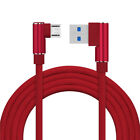 US 90 Degree Braided USB Data Charger Cable Lead Cord For iPhone 5 6 Plus 1~3M