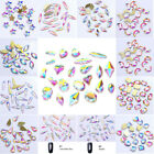 Nail Art Rhinestones Flat Back Glitter AB Color Shiny Tips 3D Nail Decorations
