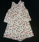 NWT Justice Kids Girls Size 6 7 10 or 16 White Lace Flower Shorts Romper