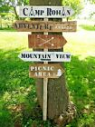 Large Personalised rustic wood wedding way sign signpost barn wedding venue deco