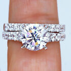 3.29Ct 14K White Gold Over Stackable Diamond Engagement Wedding Ring Set R14