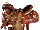 HAND TOOLED CROSS 16 15 WESTERN TRAIL SADDLE SHOW HORSE PLEASURE SHOW PACKAGE