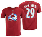 Reebok NHL Youth Colorado Avalanche Nathan MacKinnon #29 Player Tee, Red $9.99 USD on eBay