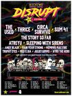 ROCKSTAR DISRUPT FESTIVAL 6/25 W. PALM, FL The Used Thrice Circa Survive Charity