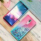 For LG K30/Xpression Plus Case Bling Liquid Glitter Phone Cover+Screen Protector