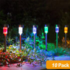 10x STAINLESS STEEL SOLAR LED GARDEN LIGHTS COLOUR CHANGING/WHITE OUTDOOR LAMPS