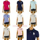 Polo Ralph Lauren Womens Polo Shirt Skinny Fit Mesh Short Sleeve Big Pony Logo