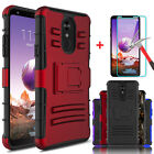 For LG Stylo 4/4 Plus Shockproof Case With Kickstand Belt Clip+Screen Protector